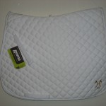 White saddle cloth
