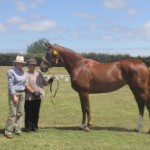 Stoneylea Dazzle with Owner Kris Gavin and breeder Angela Smith