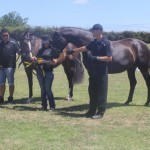 Sheena Ross with Top filly Siriana SW and Reserve Champion of tour Sable Hit SW