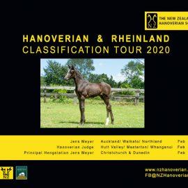 NZ Hanoverian and Rheinland Classification Tour Itinerary  Feb 2020