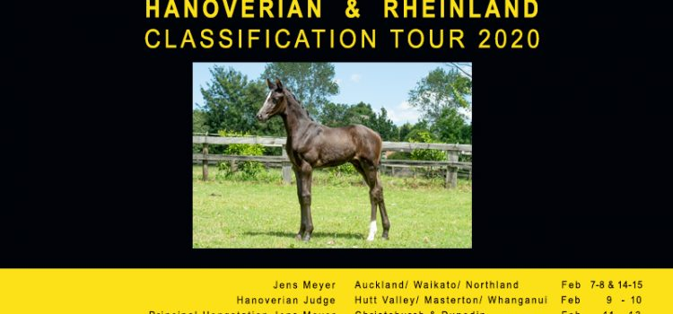 NZ Hanoverian and Rheinland Classification Tour Itinerary  Feb 2020